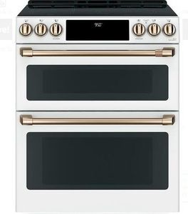 Chs950p4mw2 Cafe 30 Slide In Front Control Convection Double Oven Induction Range With Wifi Connect And