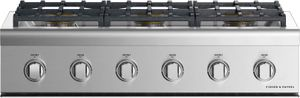 """CPV2366NN Fisher & Paykel 36""""  Professional Cooktop with 6 Burners - Natural Gas - Stainless Steel"""