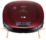 "CR3365RD LG 14"" HOM-BOT Robotic Vacuum with Dual Eye 2.0 Mapping System and Touch Controls - Ruby Red"