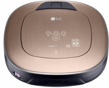 "CR5765GD LG 14"" HOM-BOT Robotic Vacuum with Dual Eye 2.0 Mapping System and Touch Controls - Metal Gold"