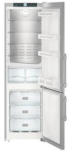 """CS1360BL Liebherr 24"""" Left Hinge Freestanding Semi Built In Bottom Mount Refrigerator with NoFrost and DuoCooling  - Stainless Steel"""