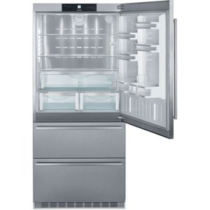 "CS2080 Liebherr 36"" Right Hinge Freestanding Semi Built In Bottom Freezer Counter Depth Refrigerator with NoFrost and DuoCooling - Stainless Steel"