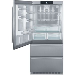 "CS2081 Liebherr 36"" Left Hinge Freestanding Semi Built In Bottom Freezer Counter Depth Refrigerator with NoFrost and DuoCooling - Stainless Steel"