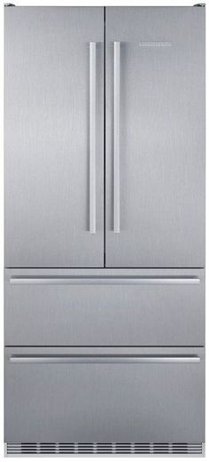 "CS2082 Liebherr 36"" Double Door Freestanding Semi Built In Bottom Freezer Counter Depth Refrigerator with NoFrost and DuoCooling - Stainless Steel"
