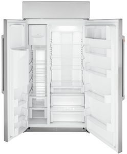 "CSB42YP2NS1 Cafe 42"" Built In Side by Side Refrigerator with WiFi Connect - Stainless Steel with Brushed Stainless Steel Handles"