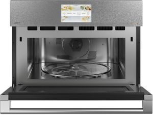"""CSB912M2NS5 Cafe 27"""" Five In One Single Wall Oven Microwave Combo with 20 Reheat Programs and Advantium Technology - Platinum"""