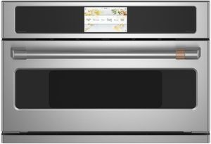"CSB913P2NS1 Cafe 30"" Five In One Single Wall Oven Microwave Combo with 20 Reheat Programs and Advantium Technology - Stainless Steel Brushed Stainless Steel Handle"