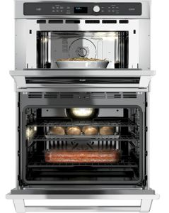 """CT9800SHSS Cafe 30"""" Built-In Combination Advantium/Convection Wall Oven - Stainless Steel"""