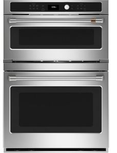 "CTC912P2NS1 Cafe 30"" 6.7 cu. ft. Built-In Combination Wall Oven with Convection and Advantium Technology - Stainless Steel with Brushed Stainless Steel Handles"
