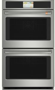 "CTD70DP2NS1 Cafe 30"" Professional Series Electric Double Wall Oven with wn True Convection and Precision Cooking - Stainless Steel with Brushed Stainless Steel Handle"