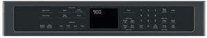"""CTD90DP3MD1 Cafe 30"""" Double Electric Wall Oven with Steam-Self Clean and Wi-Fi Connect - Matte Black with Brushed Stainless Handles"""