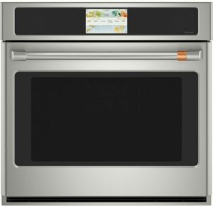 """CTS70DP2NS1 Cafe 30"""" Electric Single Wall Oven with Top-Down True Convection and Full Color Display - Stainless Steel with Brushed Stainless Steel Handle"""