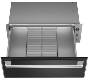 "CTW900P3ND1 Cafe 30"" Warming Drawer with Variable Humidity Control and Variable Temperature Control - Matte Black with Brushed Stainless Steel Handle"