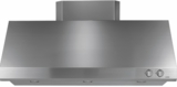 "CV48SSLSS GE Caf� 48"" Professional Hood with 3 Halogen Lamps with 4 Lighting Levels and Removable Grease Trays - Stainless Steel"