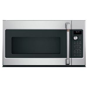 CVM517P2MS1 Cafe Over-the-Range Convection Microwave Oven with Recessed Turn Table and Auto Bake - Stainless Steel