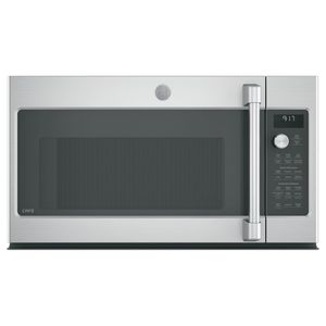 """CVM9179SLSS Cafe 30"""" 1.7 cu. ft. Convection Over-the-Range Microwave Oven with Steam Cook Button and LED Cooktop Lighting - Stainless Steel"""