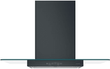 """CVW73013MDS GE Cafe  30"""" Wall Mount Glass Canopy Chimney Hood with 350 CFM Blower and Dual Halogen Cooktop Lighting - Matte Black"""