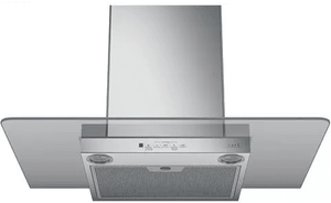 """CVW73014MWM Cafe 30"""" Wall Mount Glass Canopy Chimney Hood with 350 CFM Blower and Dual Halogen Cooktop Lighting - Matte White"""