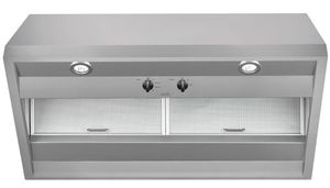 """CVW93612MSS Cafe 36"""" Commercial Hood with 590 CFM and Dual Halogen Cooktop Lighting  - Stainless Steel"""