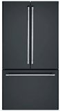 "CWE23SP3MD1 Cafe Series 36"" Counter Depth French Door Refrigerator with TwinChill Evaporators and Wi-Fi Connect - Matte Black with Brushed Stainless Handles"