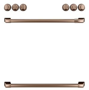 CXFCGHKPMCU Cafe Front Control Gas Knobs and Handles - Brushed Copper