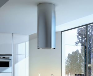 "CYLNIS15SS600 Faber Designer Collection 15"" Cylindra Isola Island Hood - Stainless Steel"