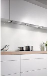 """DA2628 Miele 46"""" Extra-Slim Insert Hood with Integrated LED ClearView Lighting and 625 CFM - Stainless Steel"""