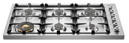 Db36600x Bertazzoni Professional 36 Drop In 6 Burner Gas Cooktop Stainless Steel