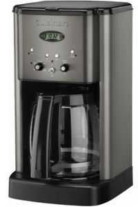 DCC1200BKS Cuisinart Brew Central 12 Cup Programmable Coffeemaker - Black Stainless Steel