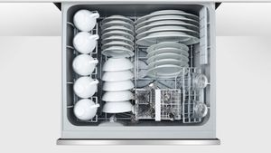 """DD24DCHTX9N 24"""" Fisher & Paykel Full Console Tall Double Drawer Dishwasher with Quick Wash,2 Cutlery Basket and Built-In Water Softner - Stainless Steel"""