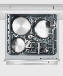 """DD24DDFTX9N Fisher & Paykel 24"""" DishDrawer Double Dishwasher with Smart Drive and Nine Wash Options - Stainless Steel"""
