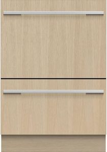 """DD24DTi9N Fisher & Paykel 24"""" Panel Ready DishDrawer Tall Double Dishwasher with Smart Drive and Nine Wash Options - Custom Panel"""
