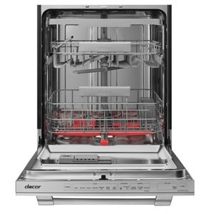 "DDW24T998US Dacor 24"" Heritage Collection Built In Dishwasher with Smart Control and Zone Booster - Silver Stainless Steel"