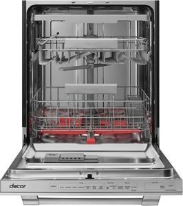 """DDW24T998US Dacor 24"""" Professional Built In Dishwasher with Smart Control and Zone Booster - Silver Stainless Steel"""