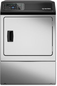 """DF7000SG Speed Queen 27"""" Gas Dryer with Moisture Sensor and Up Front Lint Filter and Interior Light - Reversible Door - Stainless Steel"""