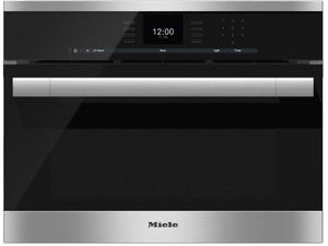 """DGC65001XL Miele 24"""" CoutourLine Combi-Steam Oven with MultiSteam and SensorTronic Controls - Stainless Steel -OPEN BOX"""