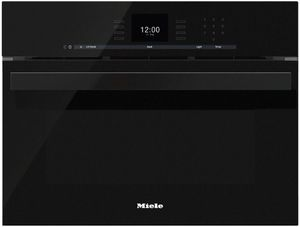 """DGC66001XLBL Miele 24"""" CoutourLine Combi-Steam Oven with MultiSteam and SensorTronic Controls - Obsidian Black"""