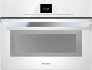 "DGC66001XLWH Miele 24"" CoutourLine Combi-Steam Oven with MultiSteam and SensorTronic Controls - Brilliant White"