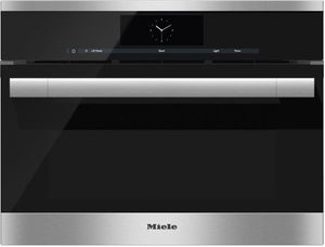 """DGC6705-1XL Miele Combi-Steam Single 24"""" Wide Plumbed Oven with MutliSteam Technology - Stainless Steel -OPEN BOX"""