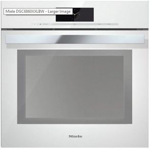 "DGC6860XXLWH Miele 24"" Steam Combination Oven with Motorized Control Panel and XXL Cavity - Brilliant White -OPEN BOX"
