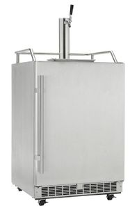 "DKC055D1SSPRO Danby 24"" Silhouette Built-In Outdoor Keg Cooler with Discrete CO2 Storage and Four Caster - Stainless Steel"