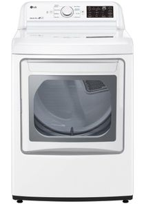 "DLE7060WE LG 27"" 7.3 Cu. Ft. Ultra Large Capacity Electric Rear Control Front Load Dryer with Sensor Dry System and LoDecibel Operation - White"