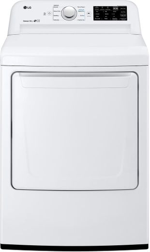 "DLE7100W LG 27"" 7.3 Cu. Ft. Ultra Large Capacity Electric Rear Control Front Load Dryer with Sensor Dry System and SmartDiagnosis - White"