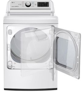 "DLE7300WE LG 27"" 7.3 cu.ft. Smart WiFi Enabled Electric Dryer with Sensor Dry Technology and EasyLoad Door - White"