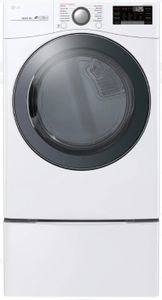 DLEX3900W LG Front Load Electric Dryer with TurboSteam Technology and SmartThinQ Technology - White