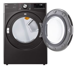 DLEX4200B LG 7.4 cu. ft. Ultra Large Capacity Smart wi-fi Enabled Front Load Electric Dryer with TurboSteam - Black Steel