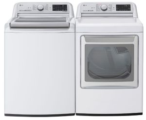 """DLEX7800WE 27"""" LG 7.3 cu. ft. Smart Wifi Electric Dryer with TurboSteam Technology and EasyLoad Door - White"""