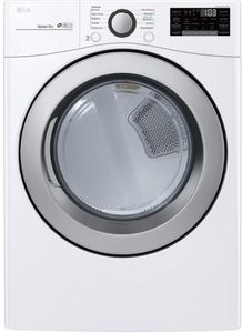 """DLG3501W LG 27"""" 7.4 Cu. Ft. Ultra Large Capacity Smart WiFi Enabled Gas Dryer with SmartThinQ Technology and Smart Diagnosis - White"""