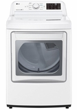 DLG7061WE LG 7.3 Cu. Ft. Ultra Large Capacity GasRear Control Front Load Dryer with Sensor Dry System and LoDecibel Operation - White