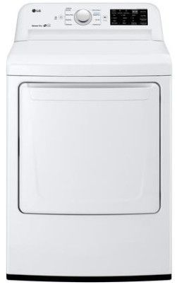 """DLG7101W LG 27"""" 7.3 Cu. Ft. Ultra Large Capacity Gas Rear Control Front Load Dryer with Sensor Dry System and SmartDiagnosis - White"""